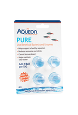 Aquaria (W) Aqueon PURE Live Beneficial Bacteria and Enzymes - 10 gal - 4 pk