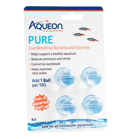 Aquaria (W) Aqueon PURE Live Beneficial Bacteria and Enzymes - 10 gal - 4 pk