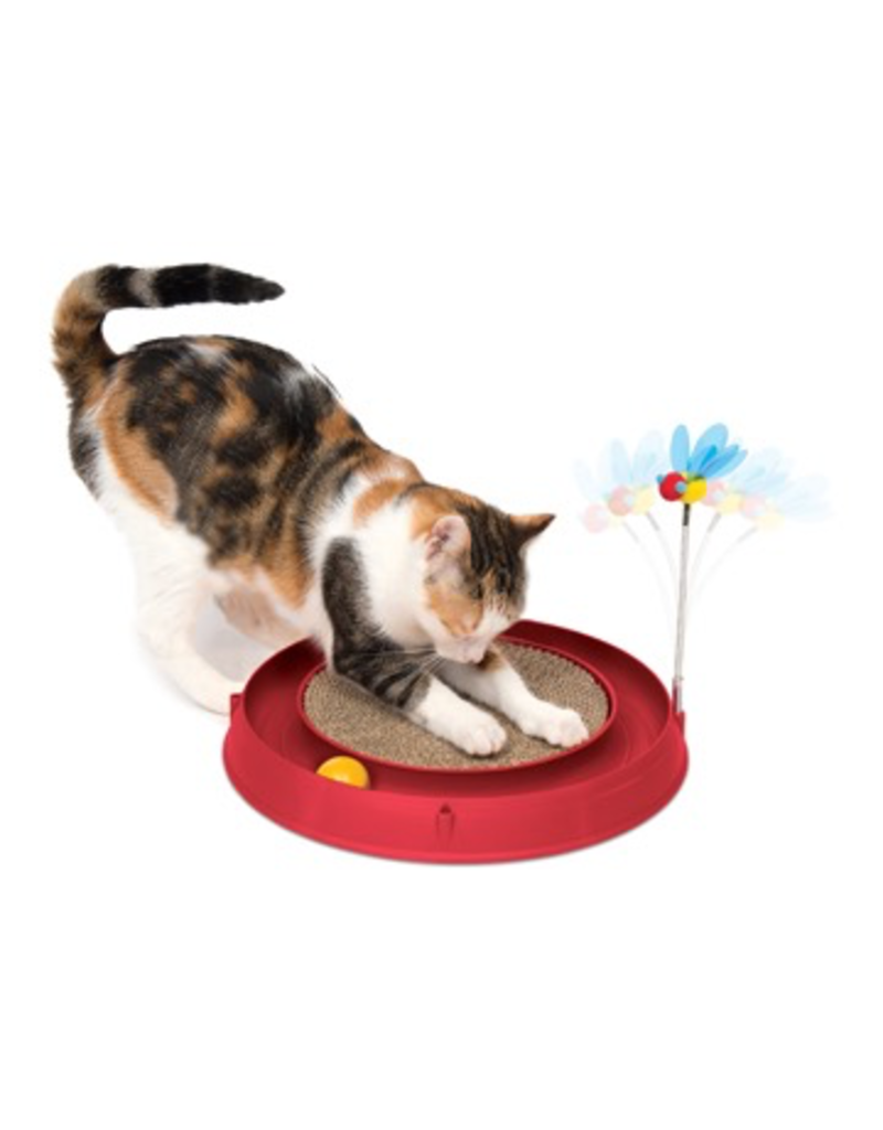 Dog & cat Catit Play-Scratch Pad, Bee, and Ball-Red