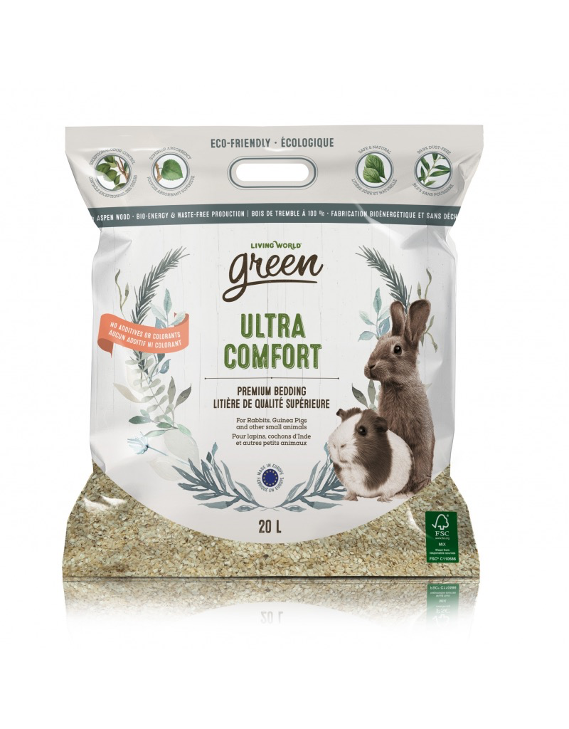 Small Animal Living World Green Ultra Comfort, 20L