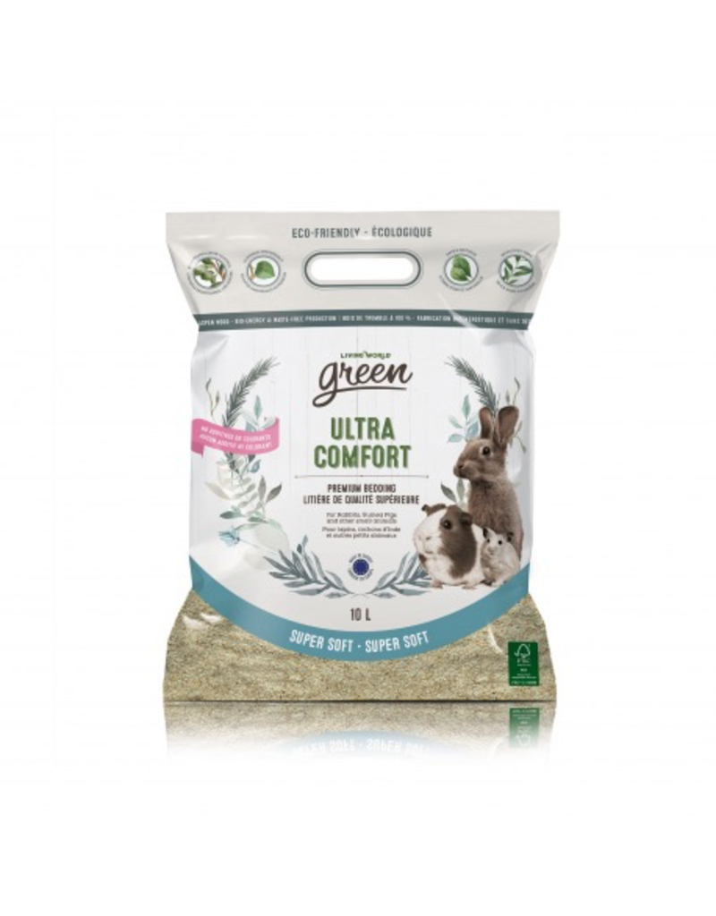 Small Animal (W) Living World Green Super Soft Ultra Comfort, 10L