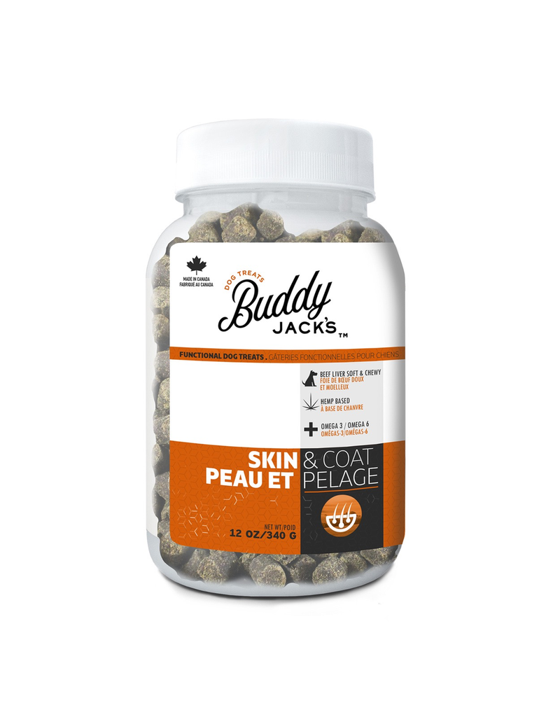 Dog & cat Buddy Jack's Functional Dog Treats - Skin and Coat - 12 oz