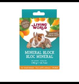 Small Animal LW SmAnim Mineral Block, Orange, 190g