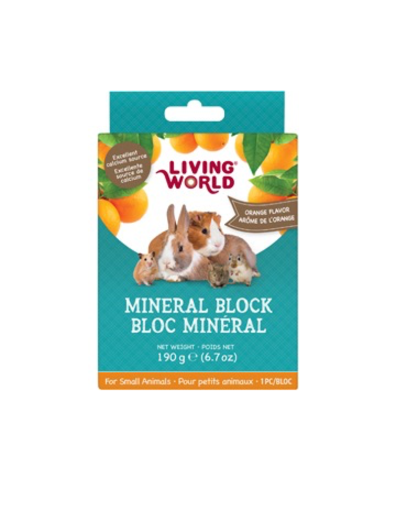 Small Animal LW SmAnim Mineral Block, Orange, 190g