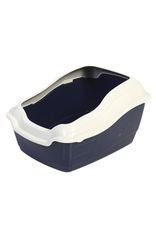 Dog & cat (W) Animal Treasures Deluxe High Back Cat Litter Pan with Rim