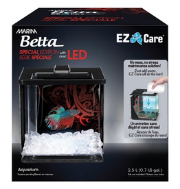 Aquaria Marina Betta Special Edition EZ Care Aquarium - Black - 2.5 L (0.7 US Gal)