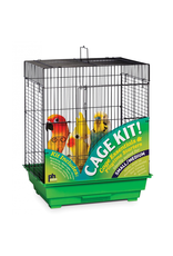 "Bird Square Roof Bird Cage Kit - Black/Green - 18"" x 14"" x 22"""