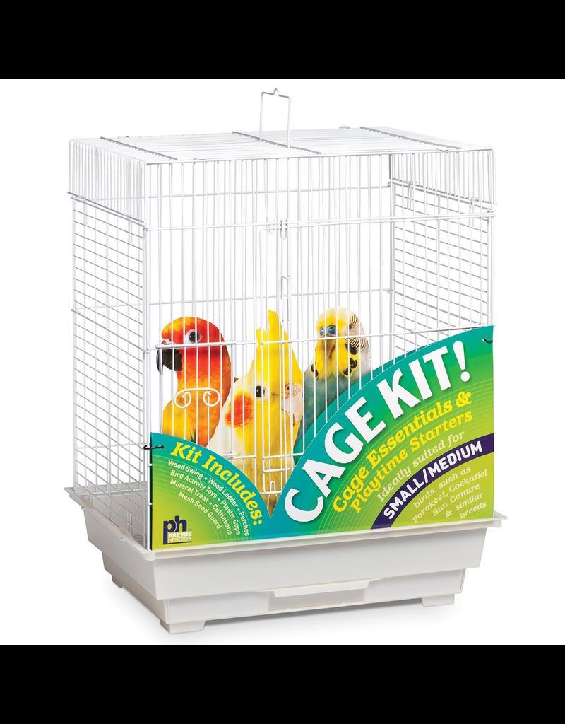 "Bird Square Roof Bird Cage Kit - White - 18"" x 14"" x 22"""