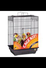 "Bird Prevue Hendryx<br /> Square Roof Bird Cage Kit - Black - 18"" x 14"" x 23"""
