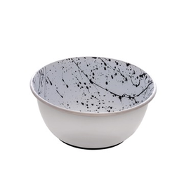 Dog & cat (W) Dogit Stainless Steel Non-Skid Dog Bowl - Black & White Splash - 500 ml (17 fl.oz.)