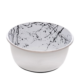 Dog & cat (W) Dogit Stainless Steel Non-Skid Dog Bowl - Black & White Splash - 950 ml (32 fl.oz.)