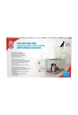 Dog & cat (W) Dogit Two Door Wire Home Crates with divider - XXLarge - 122.5 x 74.5 x 80.5 cm (48 x 29.3 x 31.5 in)