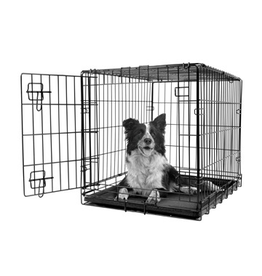 Dog & cat (W) Dogit Single Door Wire Crate - Medium - 77 x 48 x 54.5 cm (30 x 19 x 21.5 in)