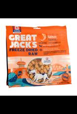 Dog & cat (W) Great Jack's Freeze Dried Raw Treats - Salmon - 14 oz