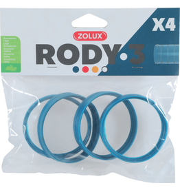 Small Animal (P) Zolux Rody3 Connector Ring 4pk ,Blue