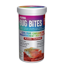 Aquaria Fluval Bug Bites Colour Enhancing Flakes - 90 g (3.17 oz)