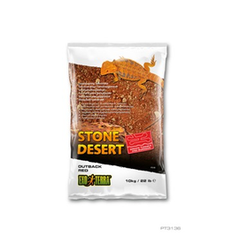 Reptiles Exo Terra Stone Desert Substrate - Outback Red Stone - 10 kg (22 lbs)
