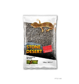 Reptiles Exo Terra Stone Desert Substrate - Bahariya Black - 10 kg (22 lbs)