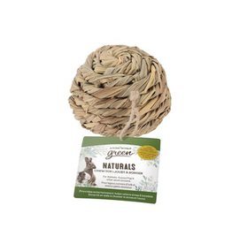 Small Animal Living World Green Naturals Chew Toy - Ball