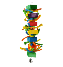 Bird (W) AT Birdie Jingle Rainbow Rope Blocks