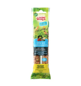 Bird Living World Canary Sticks - Vegetable Flavour - 60 g (2 oz), 2-pack