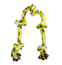 Dog & cat AT Coloured 5 Knot Rope Toy - X-Large - 36""