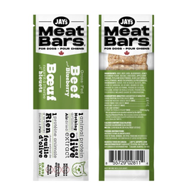 Dog & cat Jays MEATBARS Beef & Blueberry