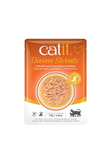 Dog & cat Catit Divine Shreds - Chicken with Salmon & Pumpkin - 75g Pouch