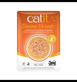 Dog & cat Catit Divine Shreds - Chicken with Salmon & Pumpkin - 75g Pouch