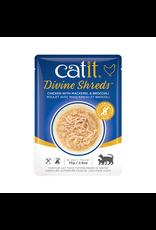 Dog & cat Catit Divine Shreds - Chicken with Mackerel & Broccoli - 75g Pouch
