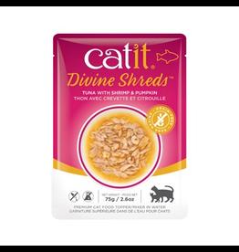Dog & cat Catit Divine Shreds - Tuna with Shrimp & Pumpkin - 75g Pouch