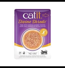 Dog & cat Catit Divine Shreds - Tuna with Shirasu & Sweet Potato - 75g Pouch