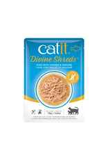 Dog & cat Catit Divine Shreds - Tuna with Chicken & Wakame - 75g Pouch