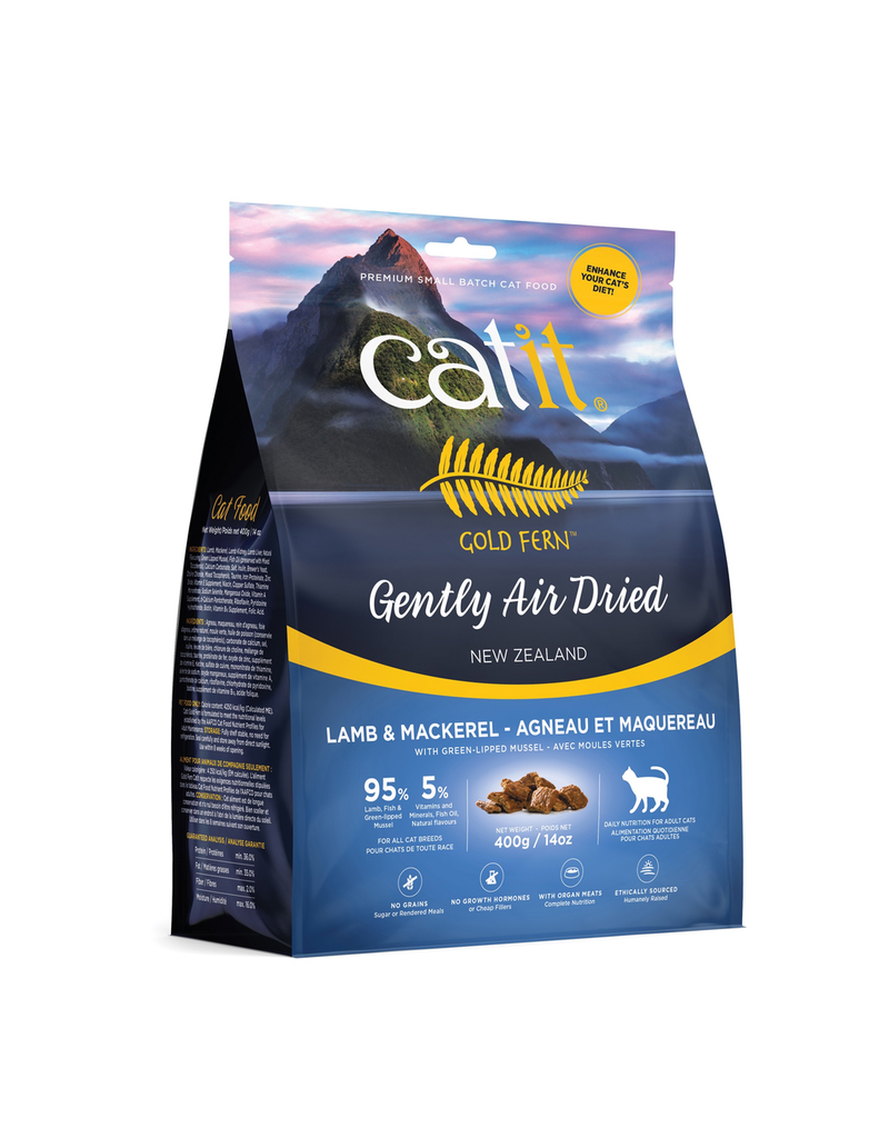 Dog & cat Catit Gold Fern Premium Air-Dried Cat Food - Lamb & Mackerel - 400 g (14.1 oz)