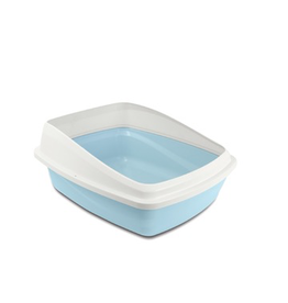 Dog & cat Catit Cat Pan with Removable Rim - Blue & Cool Grey - Medium - 38 x 48 x 22 cm (15 x 18.9 x 8.6 in)
