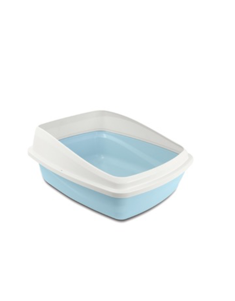 Dog & cat Catit Cat Pan with Removable Rim - Blue & Cool Grey - Medium - 38 x 48 x 22 cm (15 x 18.9 x 8.6 in)