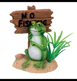 """Aquaria UT """"No Fishing"""" Frog - Large"""