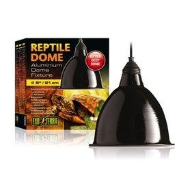 """Reptiles Exo Terra Reptile Aluminum Dome Fixture, Large, 21 cm (8"""")"""