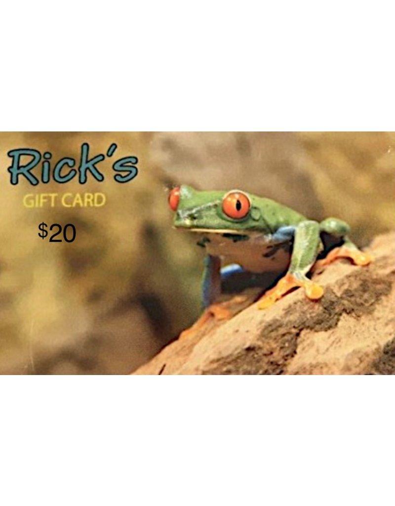 Aquaria GIFTCARD $20