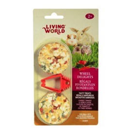 Small Animal Living World Wheel Delights - Carrot/Tomato/Herb - 2-pack