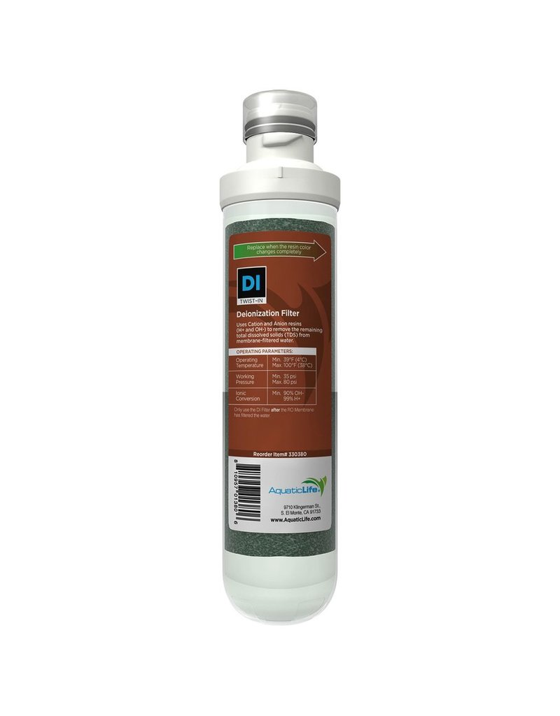 Aquaria (W) Twist-In Mixed Bed Color Changing Deionization Filter Cartridge (LC)