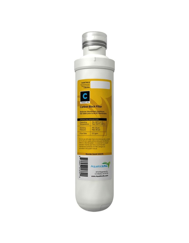 Aquaria (W) Twist-In Carbon Block Filter Cartridge (LC)