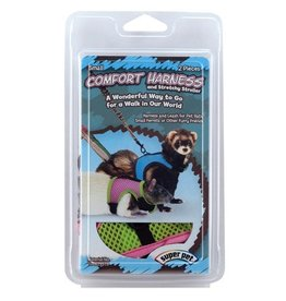 Small Animal (W) Super Pet Comfort Harness & Stretchy Stroller - Assorted - Small