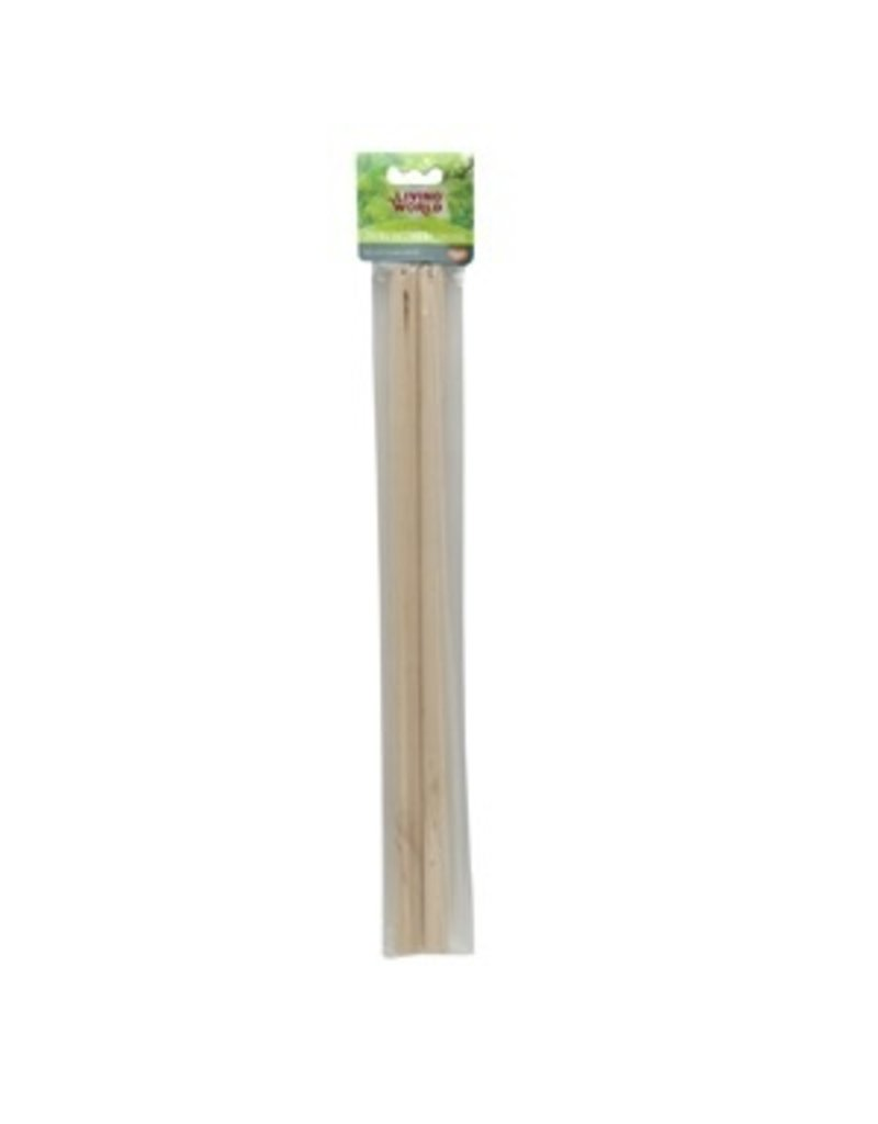 Bird Living World 2 Wooden Perches - 43 cm (17 in) - 2 pack