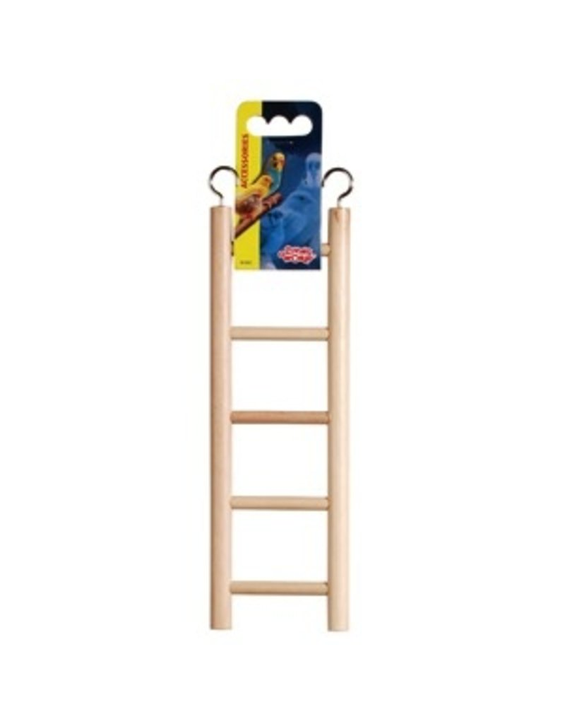 "Bird Living World Wooden Bird Ladder - 5 Steps - 25 cm (5.5"") Long"