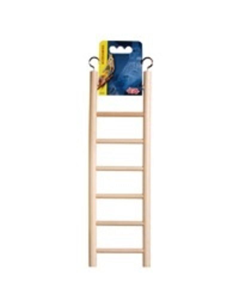 """Bird Living World Wooden Bird Ladder - 7 Steps - 30 cm (12"""") Long"""