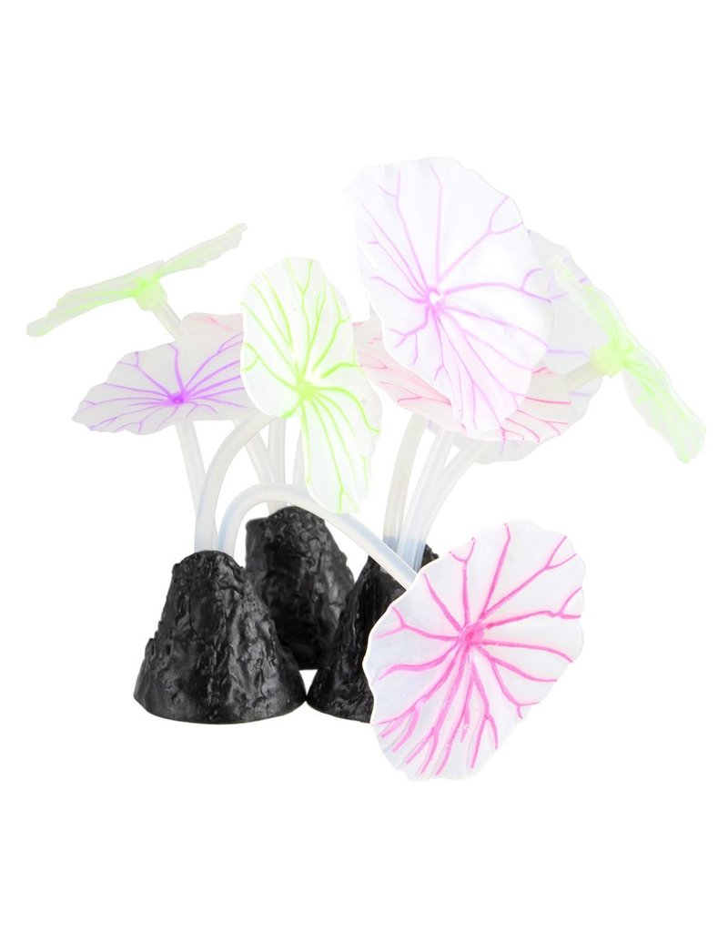 Aquaria Underwater Treasures Glowing Lotus Leaf - 3 pk