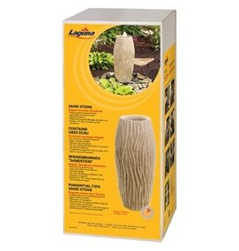 "Pond (D) Laguna Elegant Fountain Ornament - Sand Stone/ Water Ripple - 60.5 cm x 26.5 cm (23.8"" x 10.4"")"
