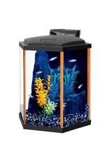 Aquaria NeoGlow Hexagon Aquarium Kit - Orange - 8 gal