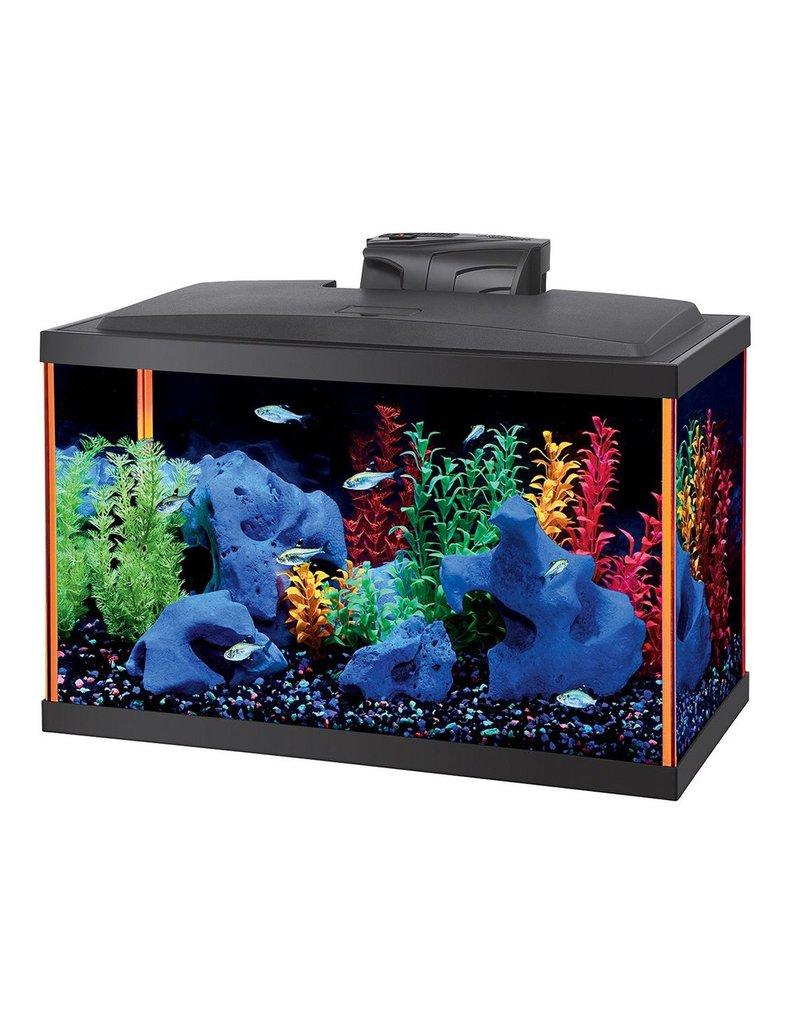 Aquaria (W) NeoGlow Rectangle Aquarium Kit - Orange - 10 gal